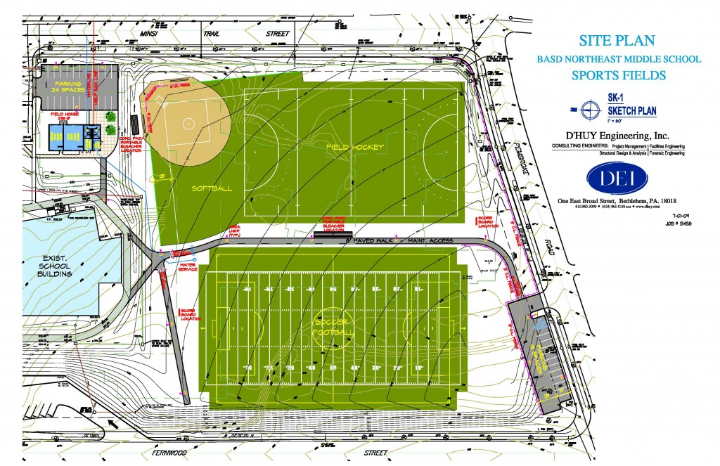 09026-Northeast Middle School Sports Fields Site Plan